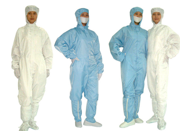 Laundering Durability Clean Room Garments Dust proof ESD Anti Static Coverall