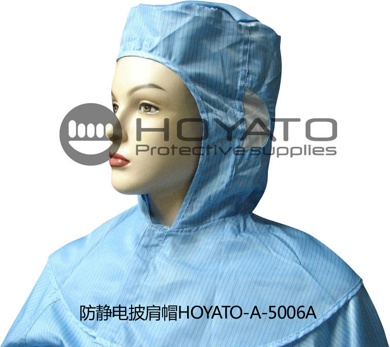 Germicidal Clean Room Garments Anti Static ESD Shawl Hat With Good Air Tightness