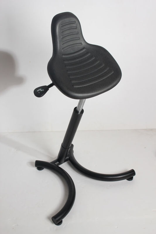 Cold Rolled Steel ESD Cleanroom Chairs Durable Adjustable Seat Surface PU Foam