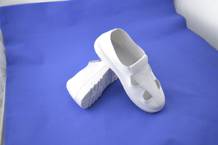 ESD Safety Shoes Four Hole White Canvas Shoes